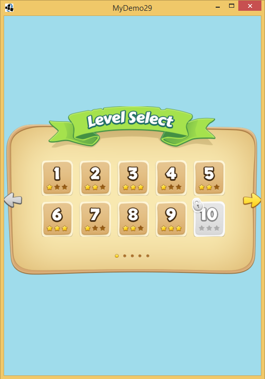 LibGDX-Game Level Selection Screen