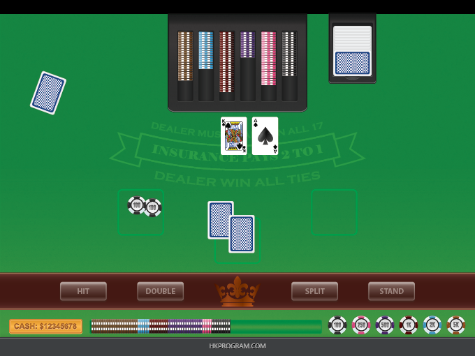Adobe Illustrator: BlackJack Table & Cards