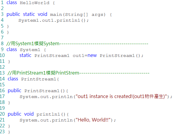System.out.println()