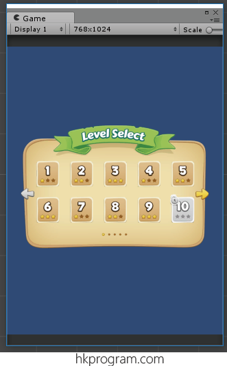 第70節 - Unity: Game Level Selection Screen